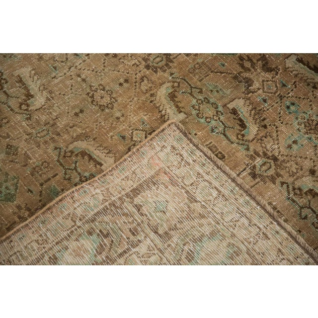 "Vintage Distressed Shiraz Carpet - 5'4"" X 8'3"" For Sale - Image 11 of 12"