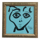 Image of Original Peter Keil Abstract Painting Framed For Sale