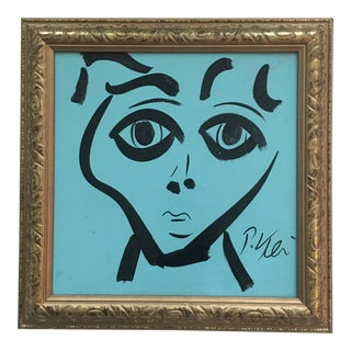 Original Peter Keil Abstract Painting Framed For Sale