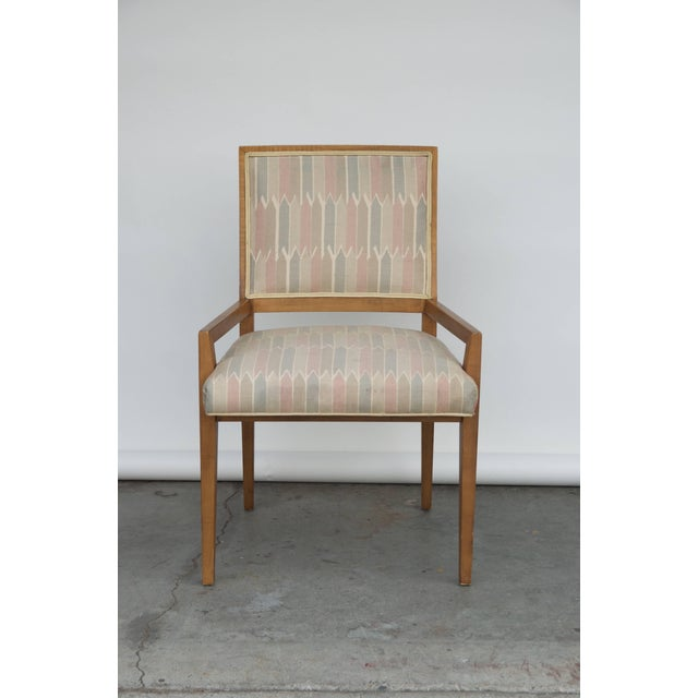 Jean Royère Set of Six Elegant Mid-Century Modern Armchairs and Chairs For Sale - Image 4 of 9