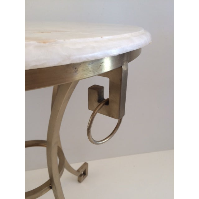 2010s Todd Hase Christelle Gueridon Onyx Top Side Table For Sale - Image 5 of 9