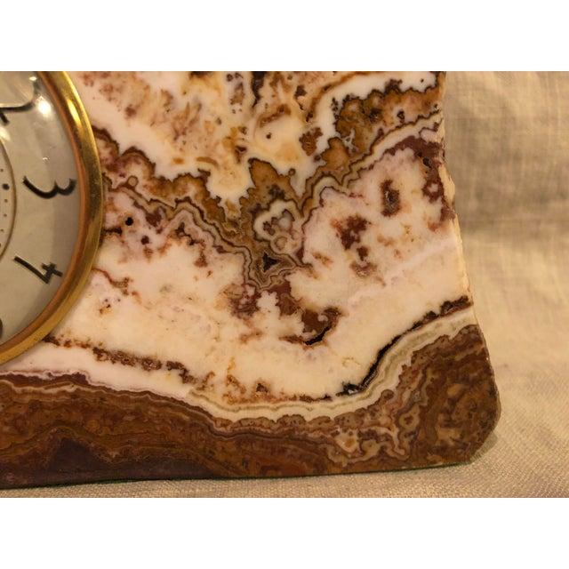 Lanshire Vintage Marble Slab Clock For Sale - Image 9 of 10