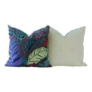 Blue Designer Down Pillow