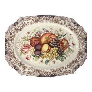 English Transferware Large Platter, Harvest Fruit Pattern by Johnson Brothers For Sale