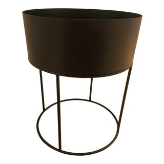 Ferm Living Black Round Planter Side Table For Sale