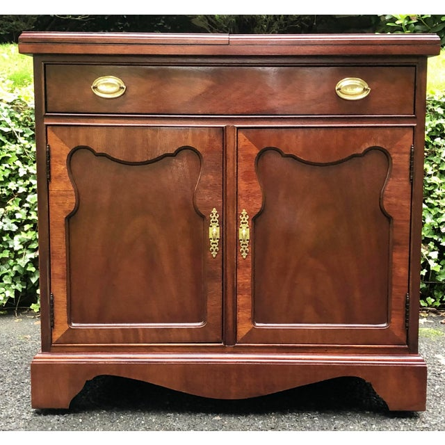 Thomasville Mahogany Collection Flip Top Server For Sale - Image 13 of 13