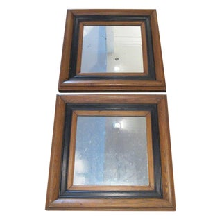Pair of Wood Mirrors For Sale