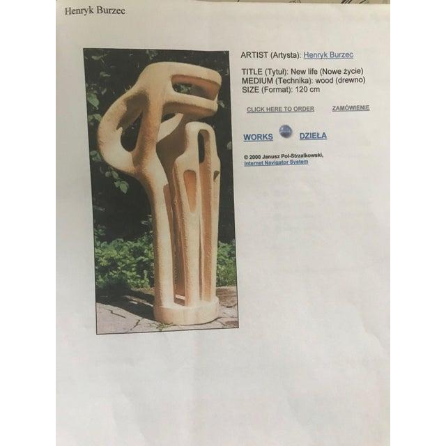 Henryk Burzec Abstract Wood Sculpture For Sale - Image 11 of 11