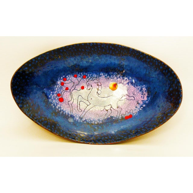 Mid-Century Modern Enamel & Copper Dish by Lopez Rodezno - Image 2 of 11