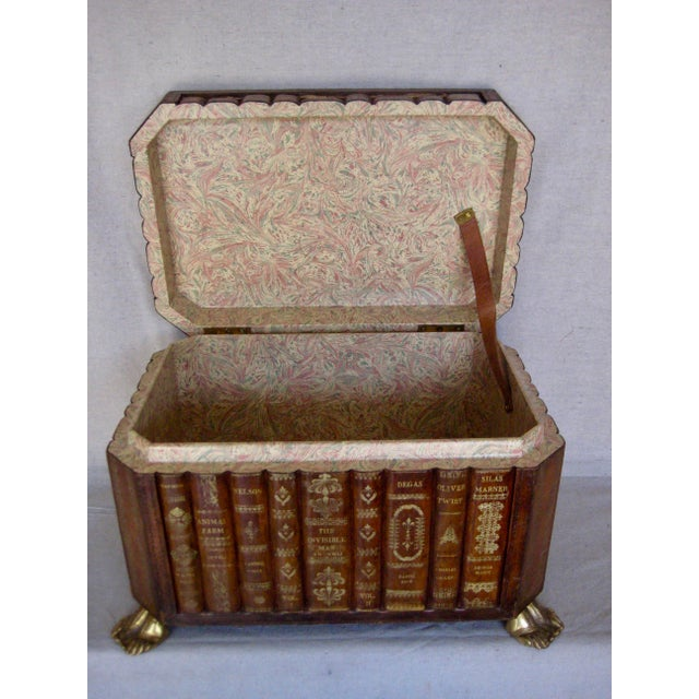 English Vintage English Book Leather Box For Sale - Image 3 of 11