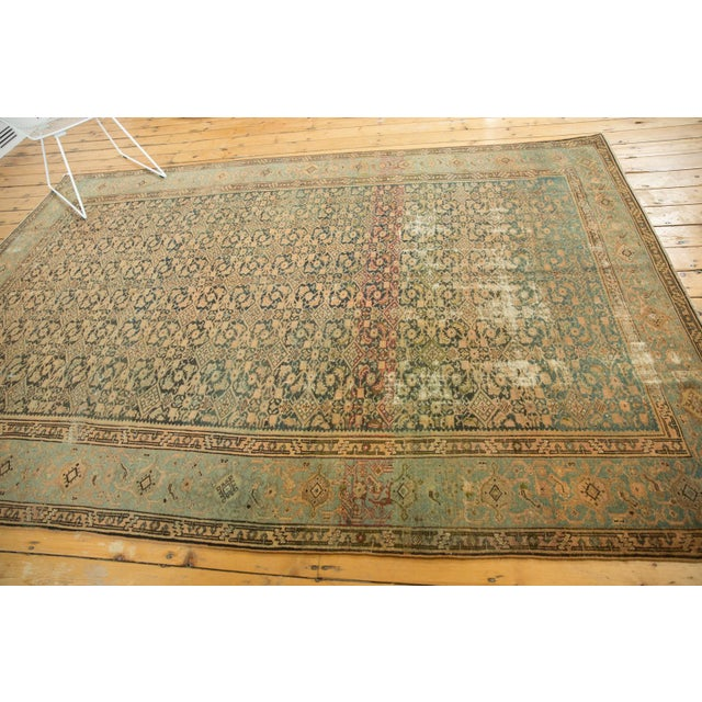 "Vintage Distressed Malayer Carpet - 7' X 10'2"" For Sale - Image 10 of 13"