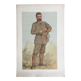 1893 Original Vanity Fair Game Hunter Print of Walter Winans