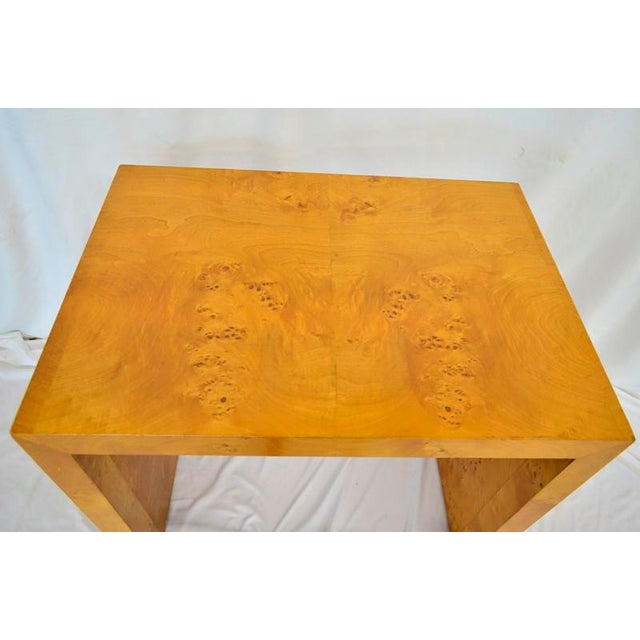 Burlwood 1960s Mid Century Modern Olive Burlwood Side Table For Sale - Image 7 of 8