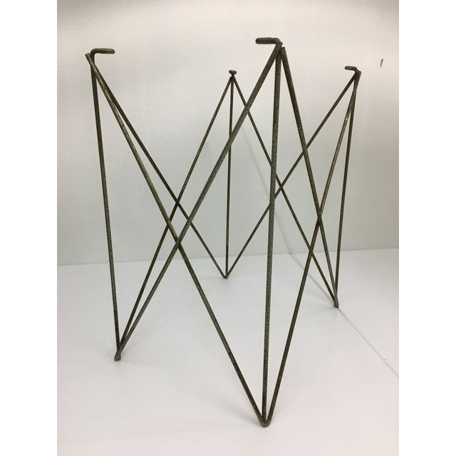 Metal Mid-Century Modern Steel Wire Side Table Bases - a Pair For Sale - Image 7 of 11