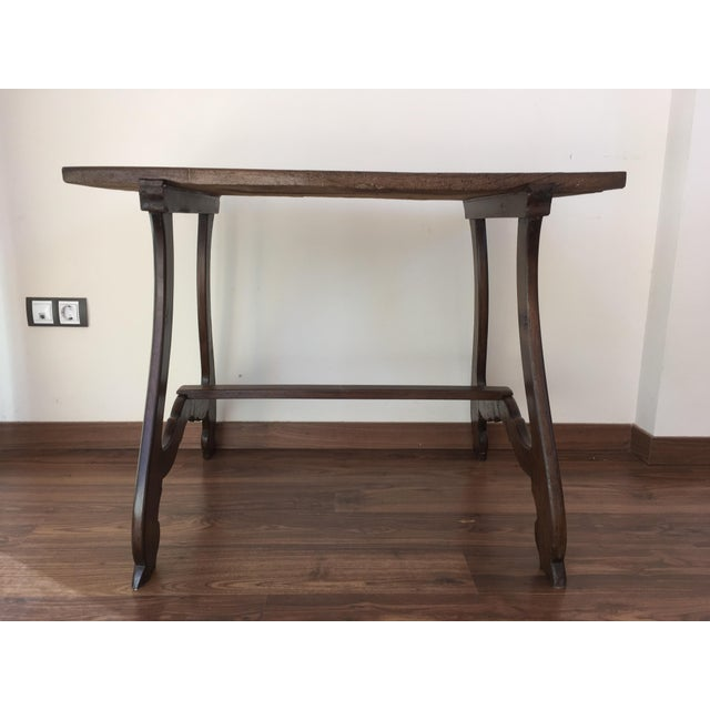 Country 19th Spanish Farm Table or Desk Table For Sale - Image 3 of 11