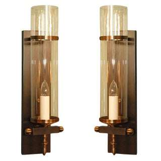 Traditional Hurricane Sconces by Paul Marra - a Pair For Sale