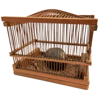 Early Chinese Lucky Cricket Cage For Sale