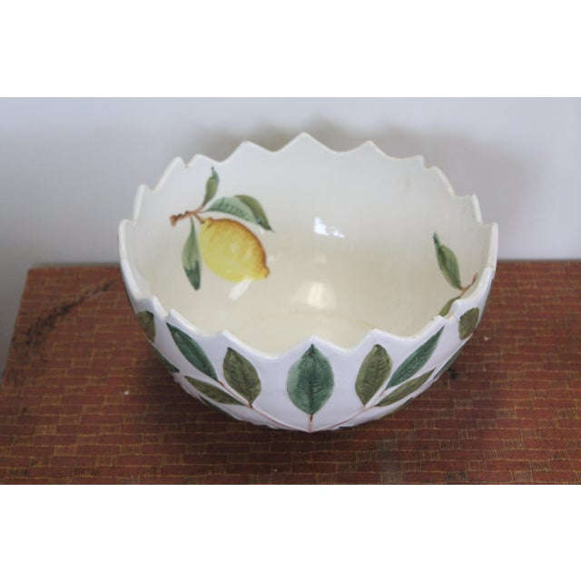 Late 20th Century Jagged Lemon Bowl For Sale - Image 5 of 6