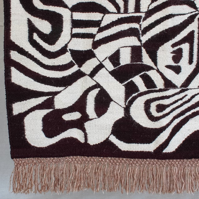 Large African Mohair Zebra Wall Hanging - Image 7 of 11