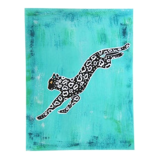 Abstract Safari Chinoiserie Leopard by Cleo Plowden For Sale