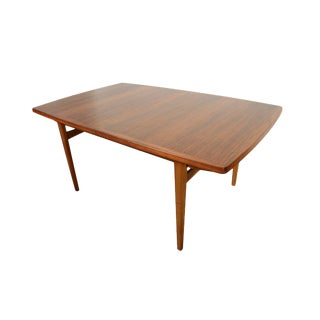 Danish Modern Large Walnut Dining/Work Table For Sale