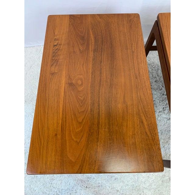 Mid 20th Century Mid-Century Danish Modern Walnut End Tables by Gunlocke For Sale - Image 5 of 11