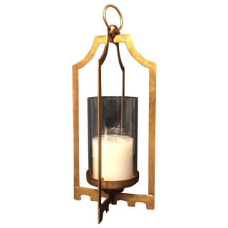 Gold Iron Candle Holder For Sale