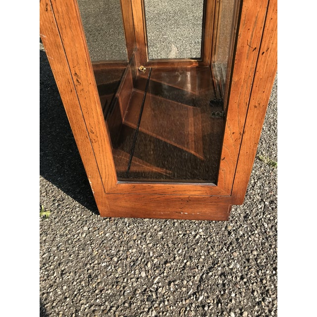 Henredon Oak and Glass Display Cabinet by Henredon For Sale - Image 4 of 10