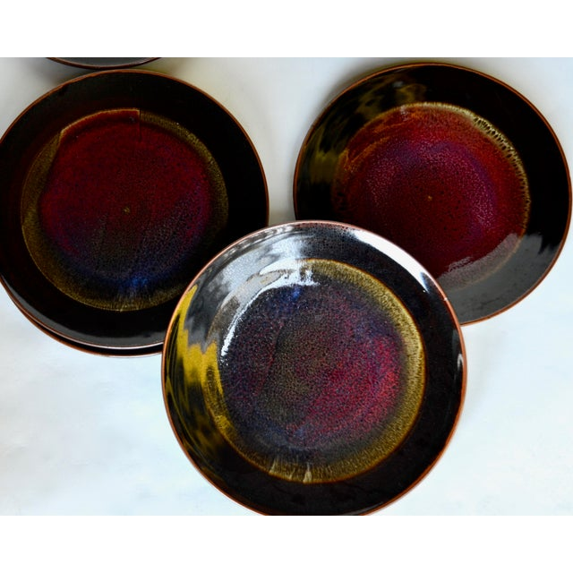 Eight Gorgeous Dinner Plates by Berkeley Studio Artist Gary Holt For Sale - Image 11 of 11