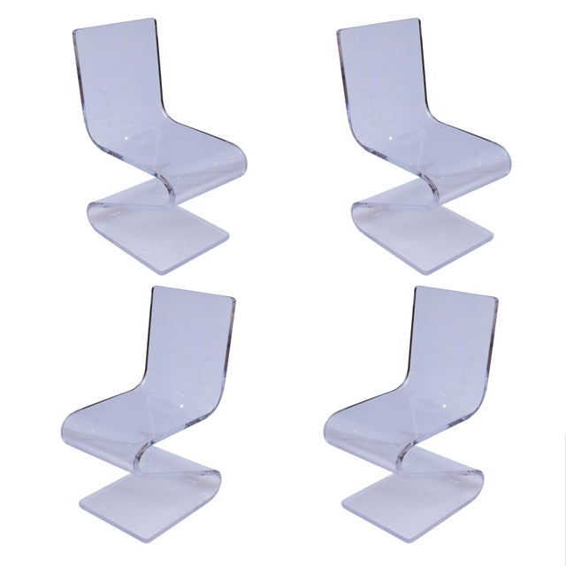 "Acrylic ""Z"" Chairs - Set of 4 - Image 1 of 5"