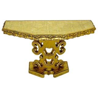 Italian Gilt Console Table with Églomisé Glass Top For Sale