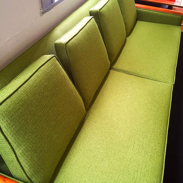 Green Adrian Pearsall Green Sofa For Sale - Image 8 of 9