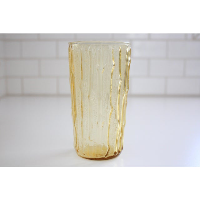 Vintage Bamboo Water Glasses - Set of 5 - Image 5 of 7