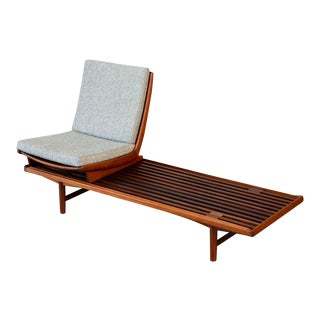 Teak Bench W/Modular Seat by Westnofa For Sale