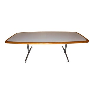 Steelcase Chrome Leg 8' Conference / Dining Table For Sale