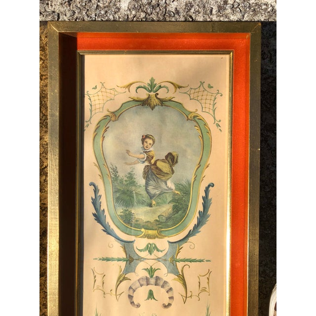 1980s Neoclassical Framed Lithograph Prints - a Pair For Sale - Image 5 of 12