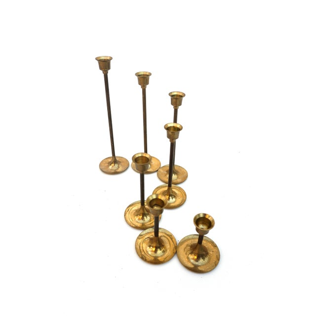 """Boho Chic Vintage Brass Candlestick Holders 
