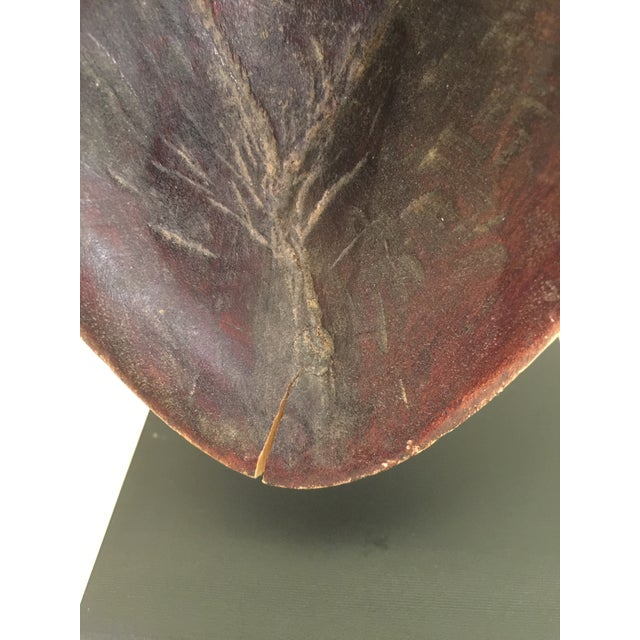 Carved African Spoon on Mount For Sale - Image 4 of 7