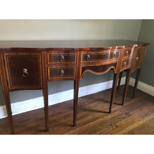 Hickory Chair Company Huge Mahogany Sideboard For Sale In Chicago - Image 6 of 9