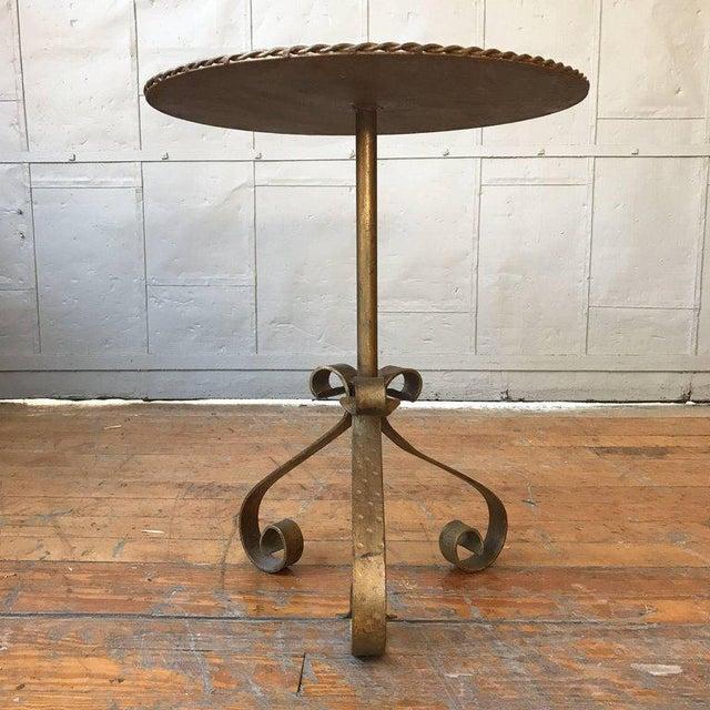 Gilt Metal End Table on a Tripod Base - Image 5 of 7