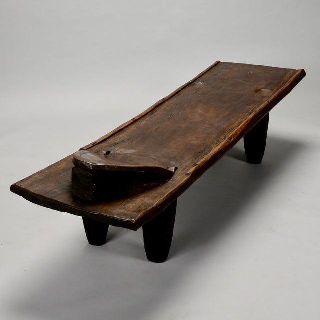 Ivory Coast Dark Wood Senufo Bench - Image 6 of 11