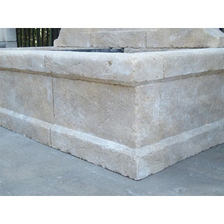 Large French Wall Fountain in Carved Provence Limestone Preview