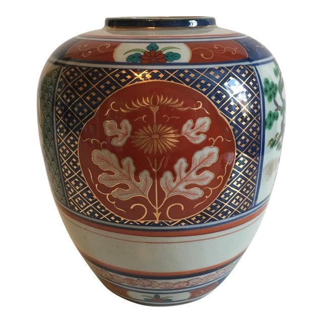 Japanese Floral Imari Vase Chairish