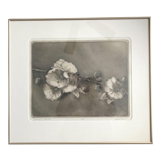 """Bishop's Flower"" Quartz Lithograph Print With Goldtone Frame - #5 /99 Signed Original For Sale"