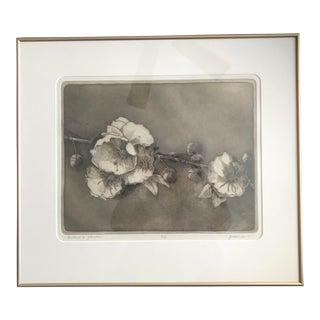 """""""Bishop's Flower"""" Quartz Print With Goldtone Frame"""