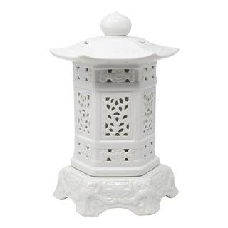 Blanc De Chine Ceramic Pagoda Lantern For Sale