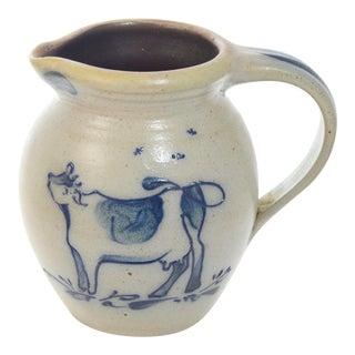 Farmhouse Stoneware Milk Jug For Sale