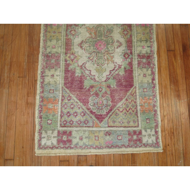 Textile Vintage Turkish Rugs - a Pair - 2'8'' x 4'8'' For Sale - Image 7 of 9