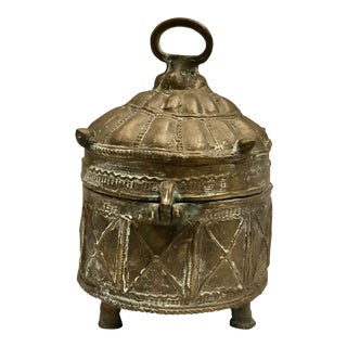 19th Century Indian Brass Box For Sale