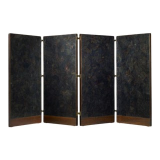 Barbara Barry Realized for Henredon Ebony 4 Panel Screen For Sale